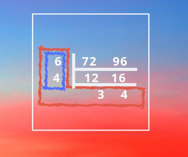 以短除法尋找最小公倍數最大公因數
